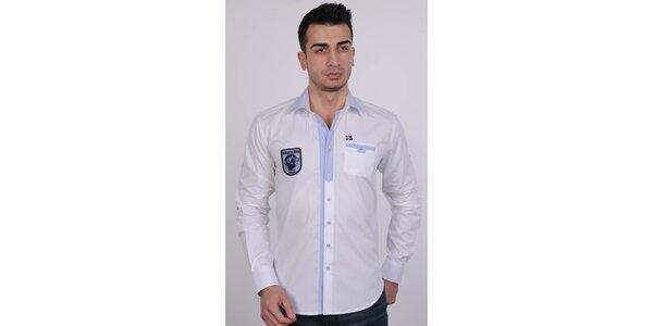 a5b979c1efd Pánská bílá košile Giorgio di Mare s výšivkou