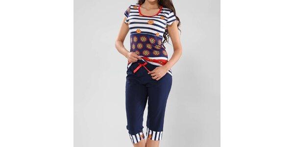 Dámské pyžamo s námořnickým vzorem Fagon
