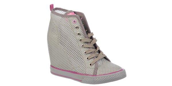 Dámské síťované boty na platformě Keddo acdd37bd8d