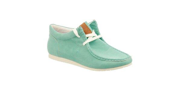 Dámské zelené boty s prošívanou špičkou Keddo