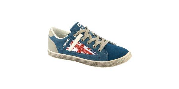Dámské modré tenisky s vlajkou Crosby