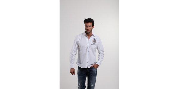 Pánská bílá košile Giorgio di Mare s výšivkami