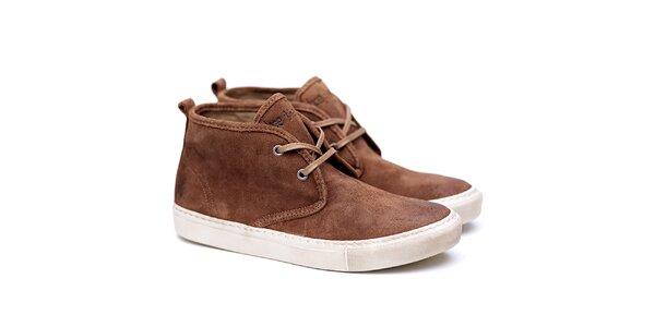 Pánské hnědé semišové boty Shoe the Bear