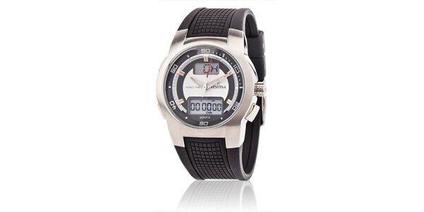 Pánské sportovní hodinky Festina s černým pryžovým páskem