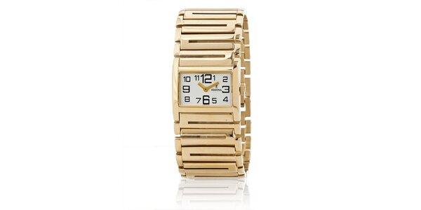 Dámské zlaté náramkové hodinky Festina