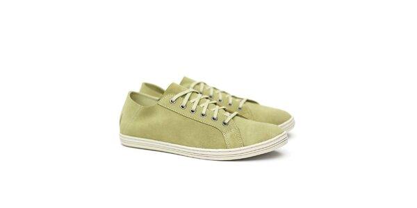 Pánské semišové olivové tenisky Shoe the Bear