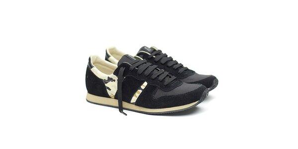 Pánské černé tenisky s maskáčovými prvky Shoe the Bear
