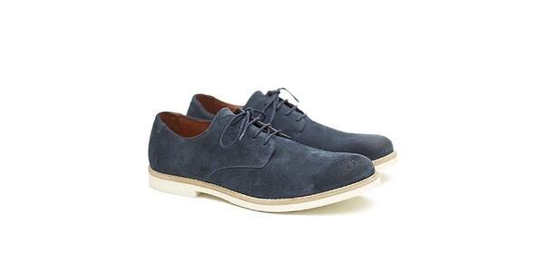 Pánské modré kožené polobotky Shoe the Bear