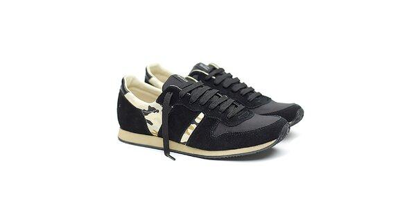 Dámské černé sportovní tenisky s maskáčovým vzorem Shoe the Bear