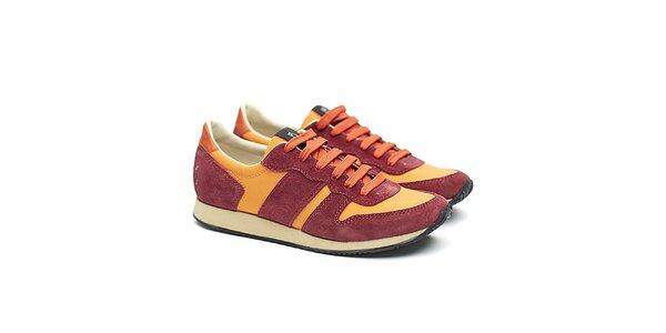 Dámské červeno-oranžové sportovní tenisky Shoe the Bear