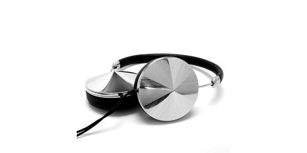 Sluchátka ve stříbrno-černé barvě Frends