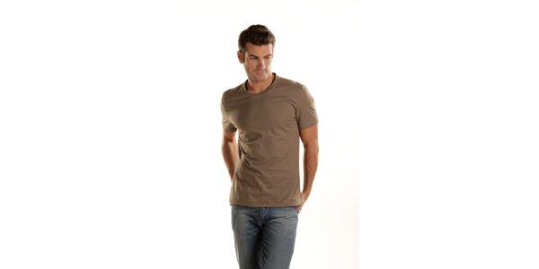 Pánské khaki tričko Gianfranco Ferré