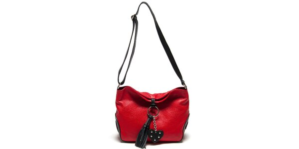 Dámská červená kabelka se střapcem Carla Ferreri