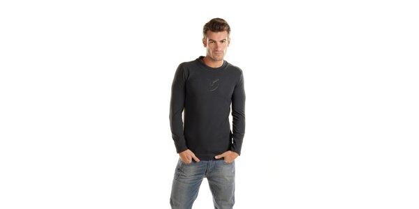 Pánské tmavě šedé tričko Gianfranco Ferré s dlouhým rukávem
