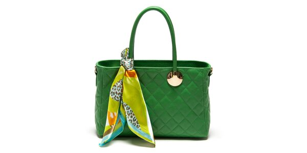 Dámská zelená kabelka s šátkem Carla Ferreri