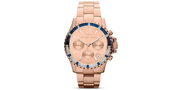 Dámské analogové hodinky v barvě růžového zlata Michael Kors