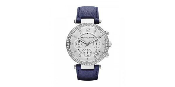 Dámské hodinky s modrým řemínkem Michael Kors