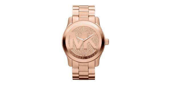 Dámské pozlacené hodinky z ušlechtilé nerezové oceli Michael Kors
