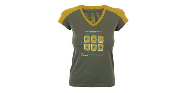 Dámské dvoubarevné tričko s potiskem Hannah
