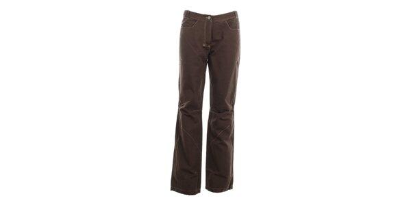 Dámské tmavé kalhoty s dekorativním prošíváním Hannah