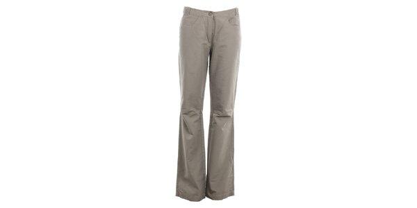 Dámské šedé kalhoty do zvonu Hannah