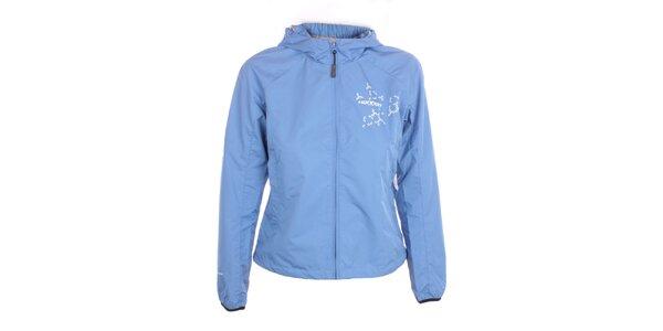 Dámská lehká blankytně modrá bunda s kapucí Hannah