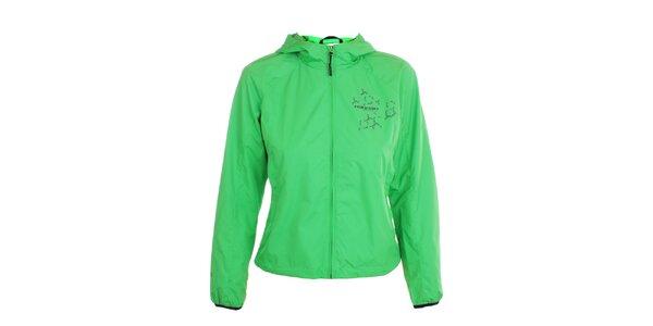 Dámská lehká hráškově zelená bunda s kapucí Hannah