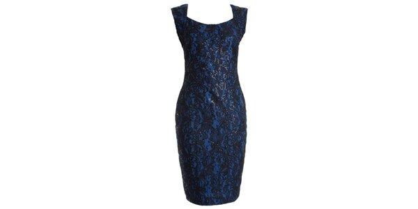 Dámské kobaltově modré večerní šaty JDC London