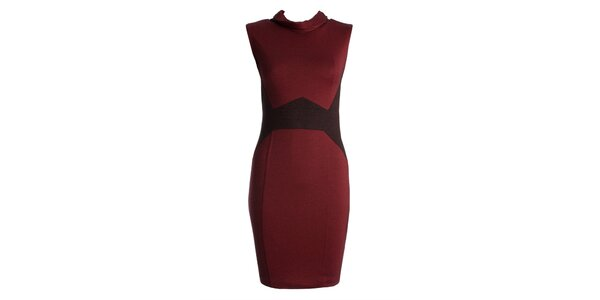 Dámské červené šaty s černými vsadkami JDC London
