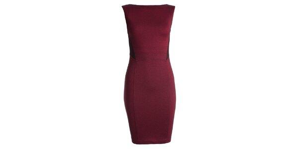 Dámské červené pouzdrové šaty JDC London f2870e08da