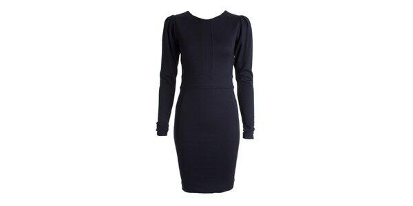 Dámské tmavě modré šaty s dlouhými rukávy JDC London