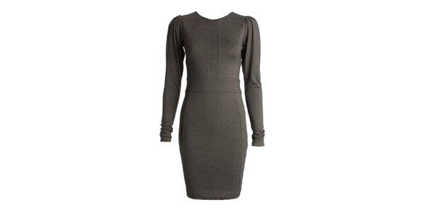 Dámské šedé šaty s dlouhými rukávy JDC London