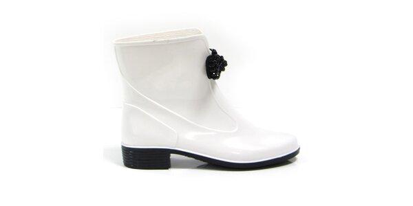 Dámské bílé kotníkové boty s ozdobou Favolla