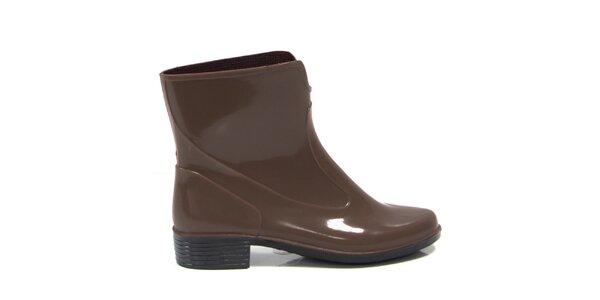 Dámské hnědé kotníkové boty Favolla