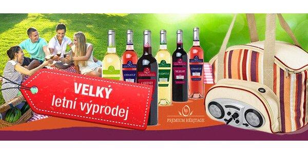 piknik koš+mix 6 vín