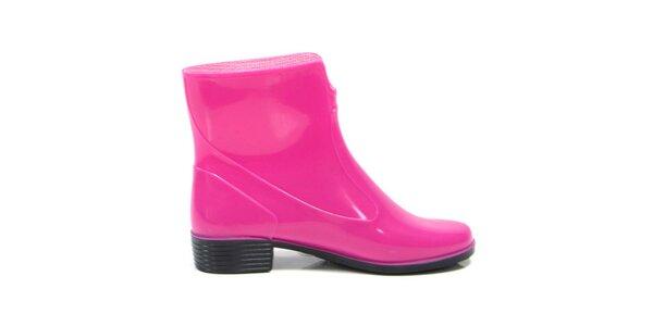 Dámské fuchsiové kotníkové boty Favolla