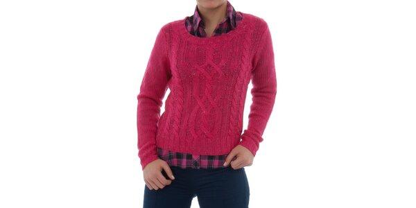 Dámský růžový melírovaný svetr Ecko Red