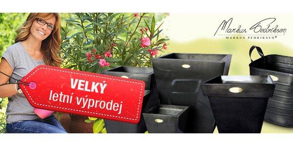 Elegantní nízké zinkové květináče
