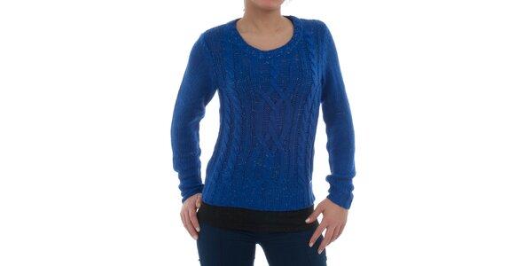 Dámský modrý melírovaný svetr Ecko Red