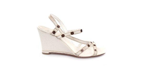 Dámské krémově bílé sandálky na klínu Levi's