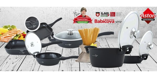 Kvalitní nádobí Jirky Babicy Black Ceramic