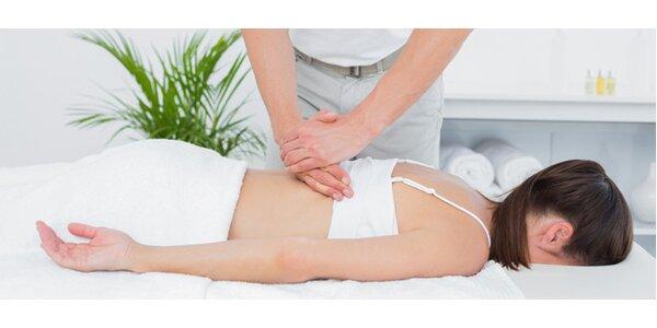 Masáž zádových svalů s protahováním páteře nuga best 60 min