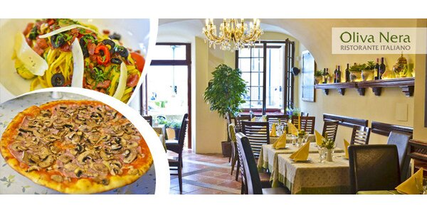 Oběd s příchutí Itálie v restauraci Oliva Nera