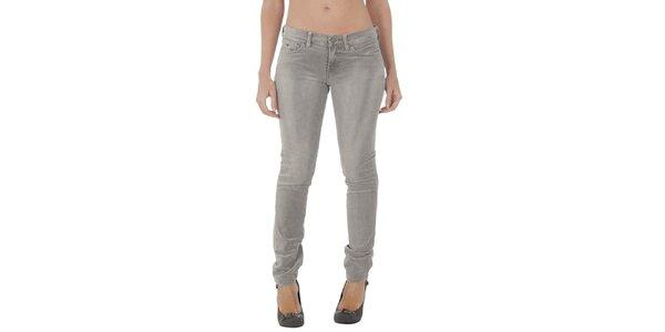 Dámské šedé úzké kalhoty Tommy Hilfiger