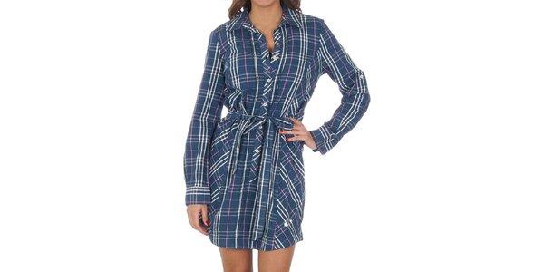 Dámské kostkované modré šaty Tommy Hilfiger