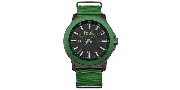Pánské zelené hodinky FCUK Gents