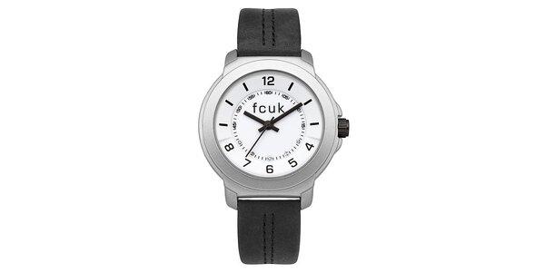 Dámské černo-stříbrné hodinky FCUK Ladies