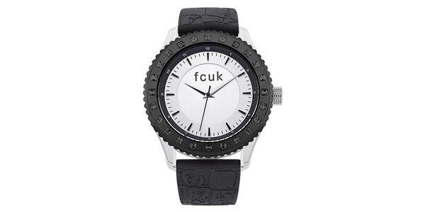Dámské černo-bílé hodinky FCUK Ladies