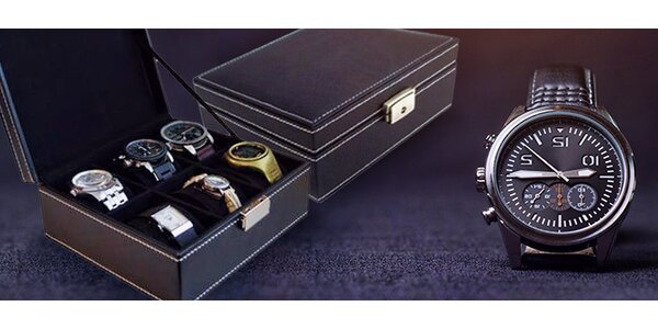 Elegantní kazeta na hodinky či náramky