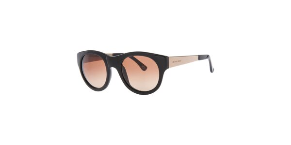Dámské černé oválné sluneční brýle s hnědými skly Michael Kors